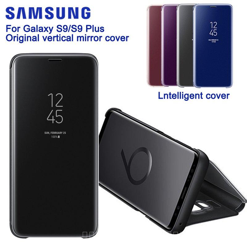 SAMSUNG OriginalกระจกClear ViewสำหรับSamsung GALAXY S9 G9600 S9 + S9 Plus G9650แท้Rouse slim Case 0d8m
