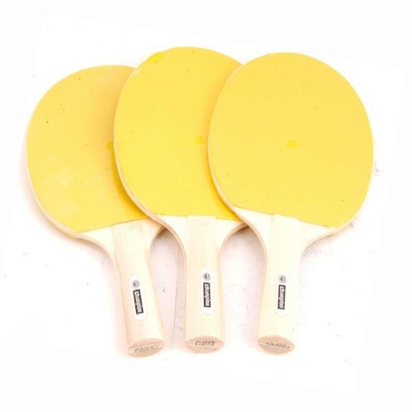 (ใส่โค้ด 7t4g9d ส่วนลด 80 บาท)ไม้ปิงปอง แชมเปี้ยน ไม้ปิงปองหน้าเหลือง Champion Table Tennis Bat(1ไม้).