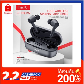 2019 NEW HAVIT I92 Bluetooth Earphone Wireless TWS Sport Headset IPX5 Touch Screen Panel Earbuds With Micro