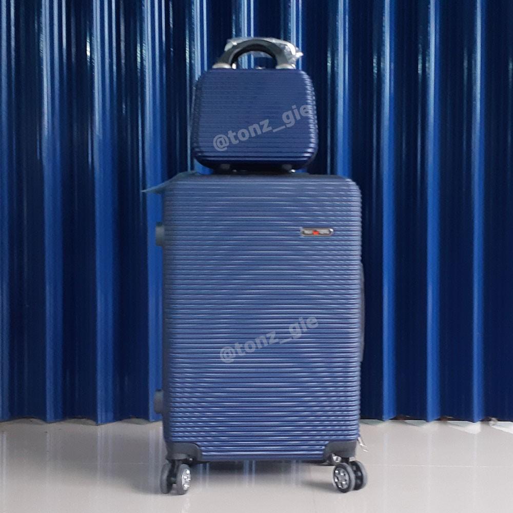 Promo กระเป๋า / กระเป๋าเดินทาง 24 นิ้ว + 12 นิ้ว (Can Be 2 ชิ้น) ไฟเบอร์ / Abs 010 กระเป๋า