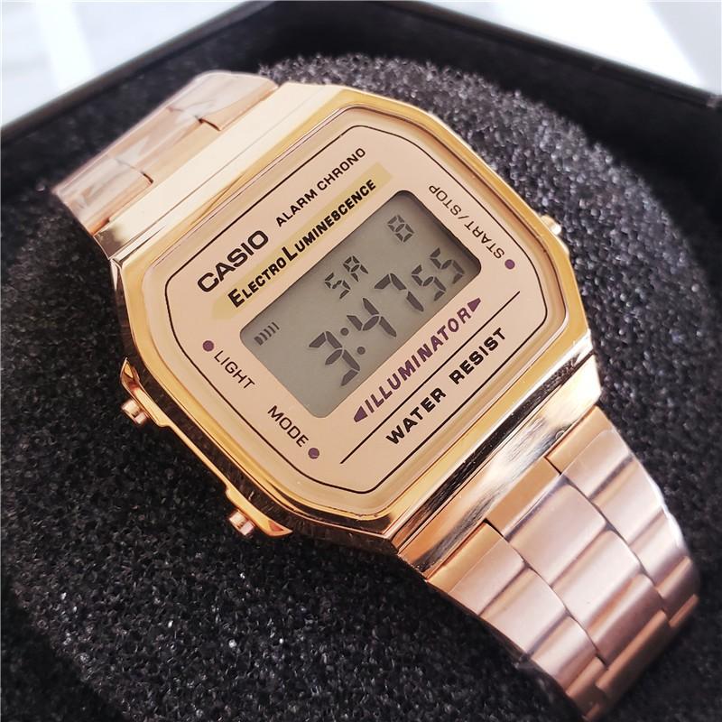 นาฬิกาข้อมือ Led สายสแตนเลส Casio