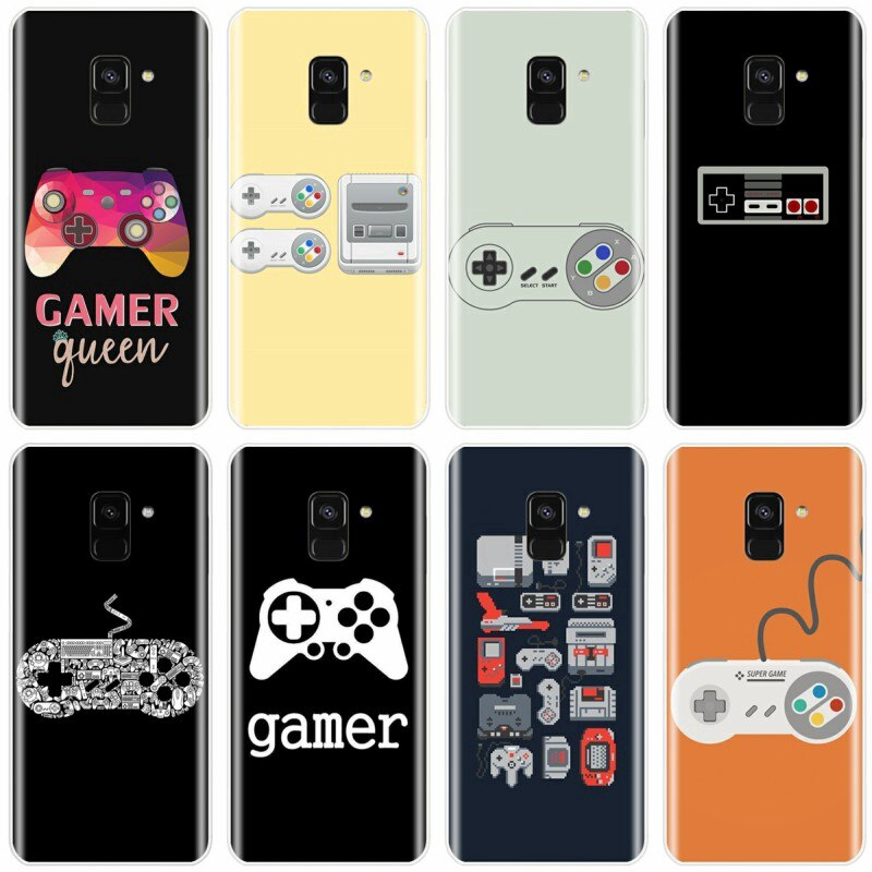 funny Game Controller Retro Phone Case For Samsung Galaxy A9 A9PRO A7 A8 A8Plus 2018 A3 A5 A7 2017 A3 A5 A6 2016