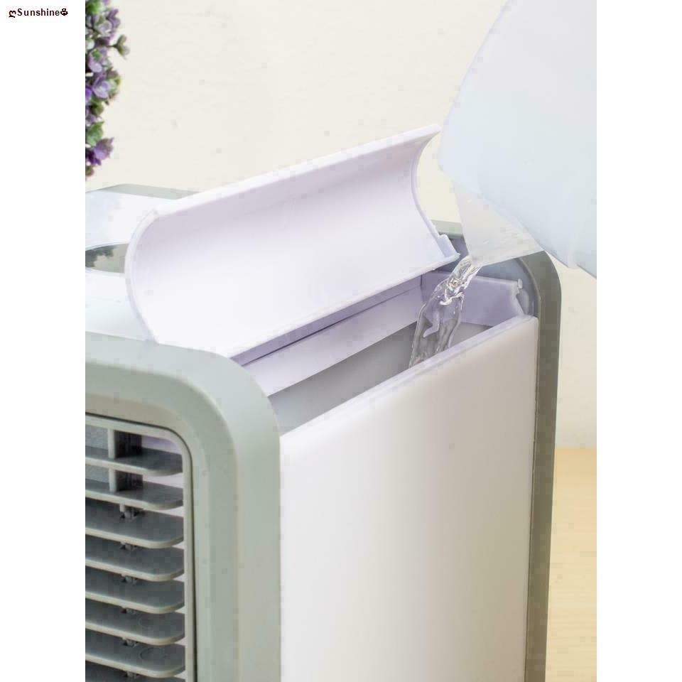 ღSunshine♧♙ARCTIC AIR พัดลมไอเย็นตั้งโต๊ะ พัดลมไอน้ำ พัดลมตั้งโต๊ะขนาดเล็ก เครื่องทำความเย็นมินิ แอร์พกพา Evaporative Ai