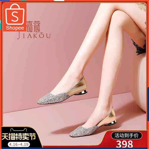 รองเท้าคัชชู ใส่สบาย สำหรับผู้หญิง รุ่นสีเรียบใส่ทำงาน รองเท้าส้นต่ำแบนเด็ก 2021 ใหม่ฤดูใบไม้ผลิและฤดูใบไม้ร่วงฤดูร้อนอเ