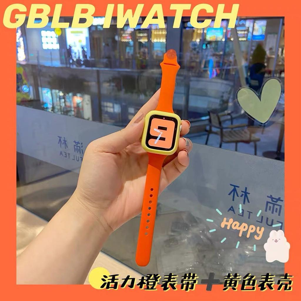 สายนาฬิกา Apple 🔥Apple watch strap 适用 Applewatch6表带iwatch456SE女款硅胶小蛮腰苹果腕带男女款