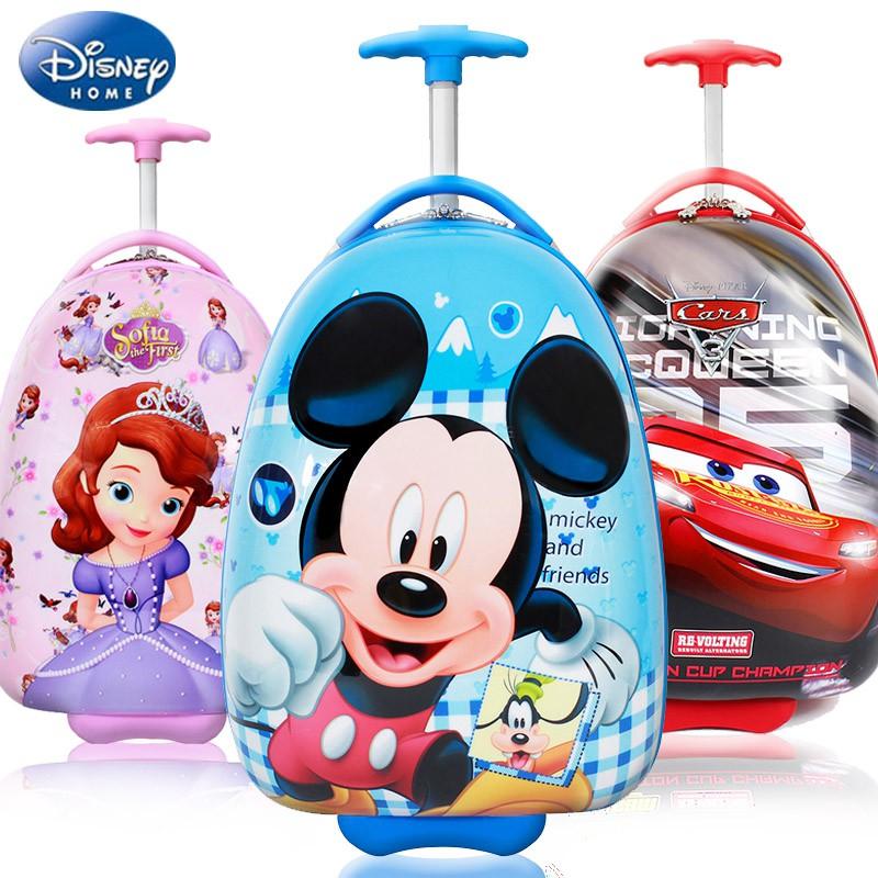 ℃¢กระเป๋าเดินทางเด็ก  กระเป๋ารถเข็นเดินทาง กระเป๋าเดินทางพกพา Disney กระเป๋าเดินทางเด็กผู้ชายและเด็กผู้หญิงรถเข็นเด็กประ