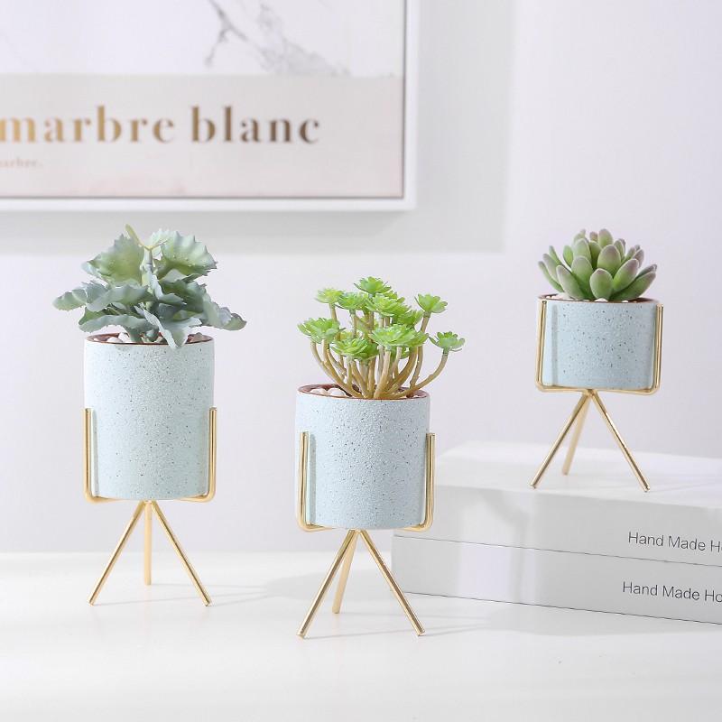 Ilove Nordic การจำลองพืชสีเขียวพืชอวบน้ำขนาดเล็กตกแต่งไม้กระถางสร้างสรรค์ ins ลมตกแต่งดอกไม้ปลอมเดสก์ท็อปตกแต่งบ้าน