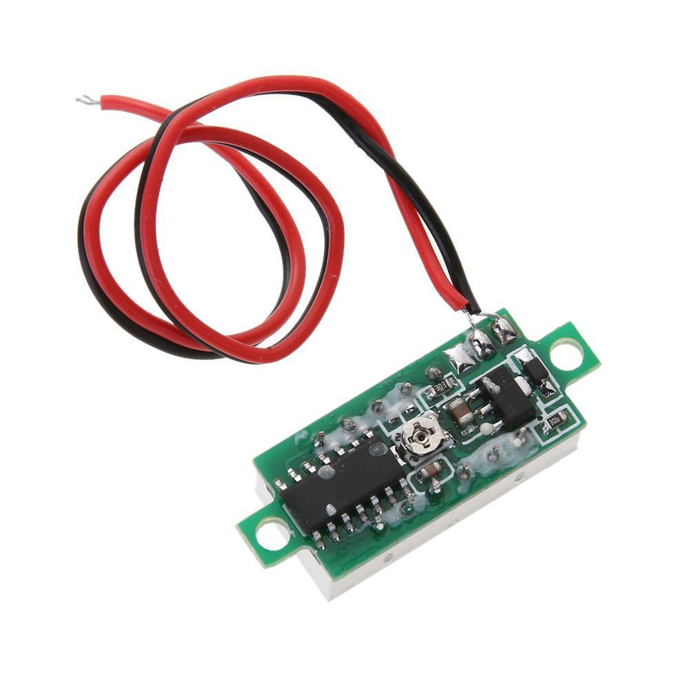 """0.28/"""" inch 2 Wire DC 2.5-30V Digital LED Mini Voltmeter Volt Panel Gauge Meter"""