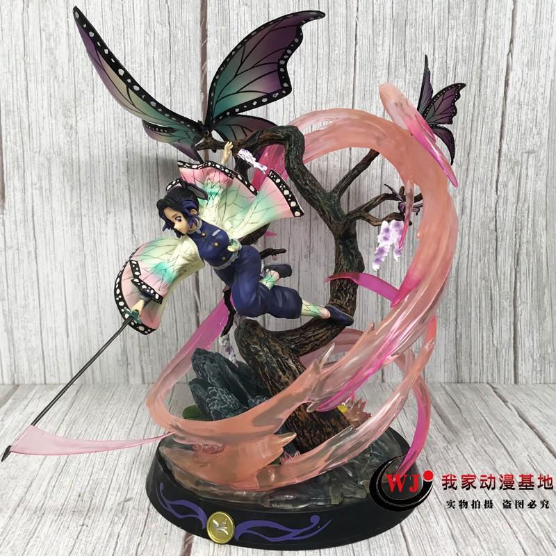 โมเดล demon slayer✣♛△Demon Slayer Blade GK Rubik s Cube Butterfly Ninja Figure Worm Pillar Statue Model Decoration อะนิเ