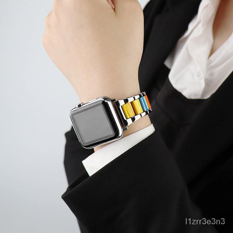 บังคับapplewatchแอปเปิ้ลนาฬิกาสายโลหะเรซินiwatch6/5/4/3/2/1แฟชั่นสร้อยข้อมือน้ำSEธุรกิจiphone seriesUnisex38/40mm42/44 m