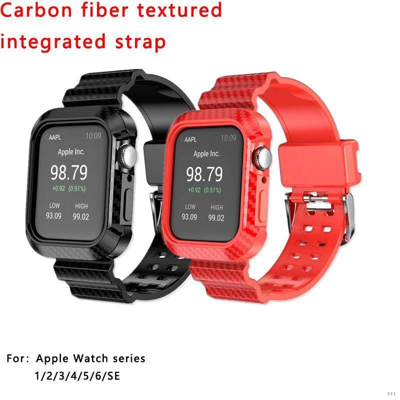 ✸◑สาย Apple Watch series6 Watch5 สายนาฬิกาสมาร์ทวอทช์ 42mm 44mm series 123456 band iwatchSE strap