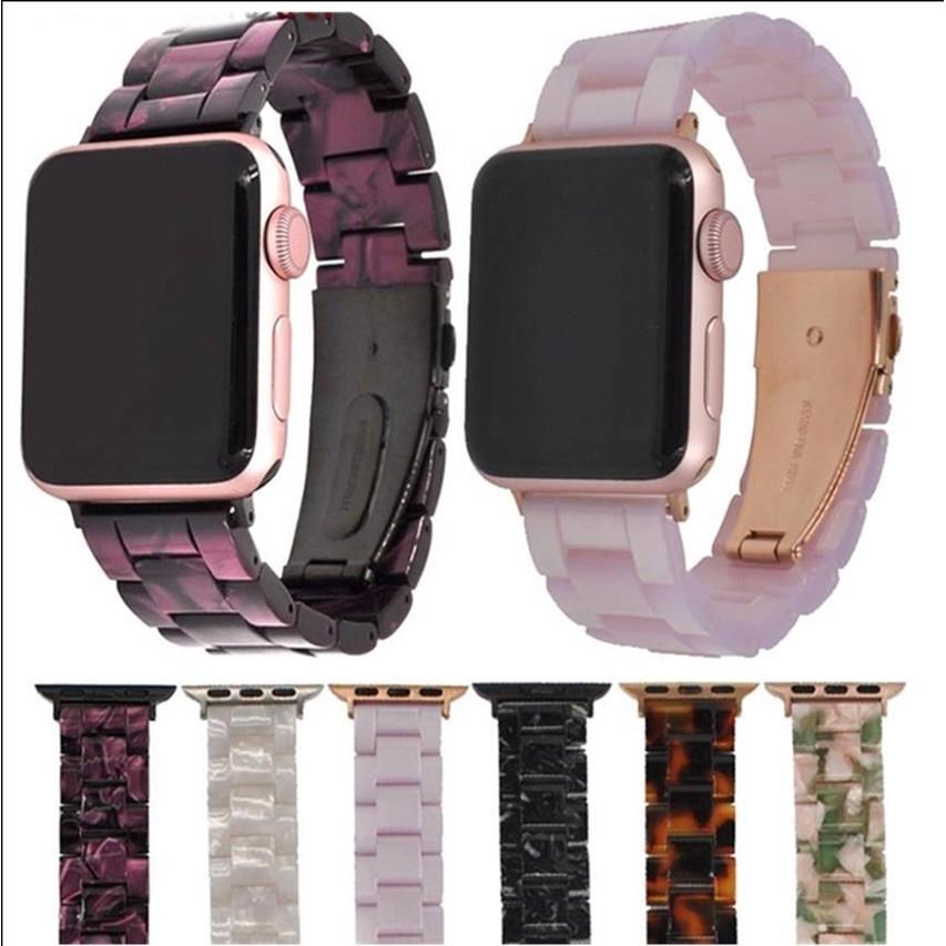 สาย applewatch สายนาฬิกา applewatch Resin strap replaces 38Mm 42Mm 44Mm 44MM  Apple Watch Series 6 SE 5 4 3 2 1 Bands