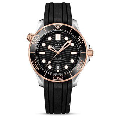 กล่องนาฬิกาหมุนอัตโนมัติ[9.9ใหม่/ใบรับรองกล่อง]โอเมก้าชายนาฬิกา Hippocampus300ชุด 18Kทอง/เหล็ก นาฬิกากลไกอัตโนมัติcod za