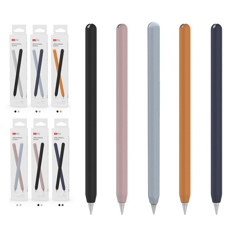 ☞♕เคสซิลิโคน แบบนุ่ม บาง สำหรับปากกา Apple Pencil 2nd Gen Silicone Case Sleeve 2 ชิ้น