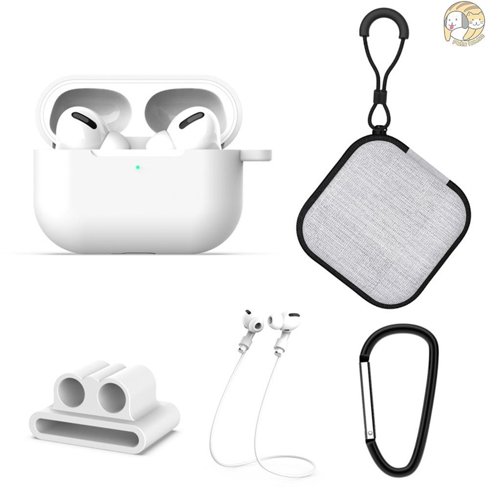 Earphone Anti-lost Strap Silicone Case Cover Protective Holder for Apple AirPod