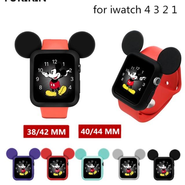 เคสซิลิโคนลายมิกกี้เมาส์สําหรับ Applewatch Series 1-4