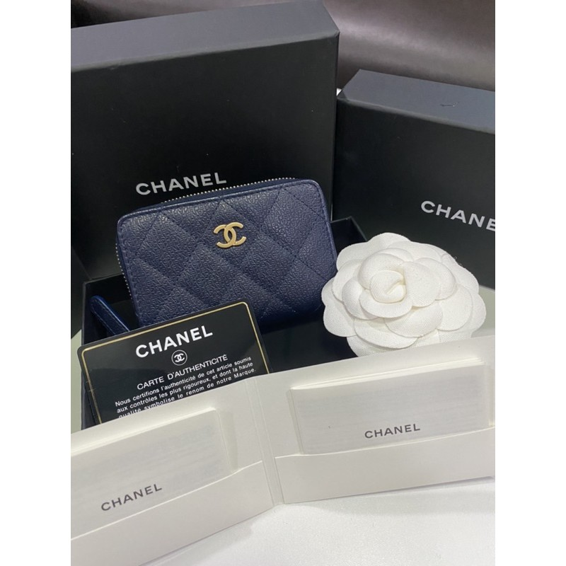 Chanel cardholder zippy