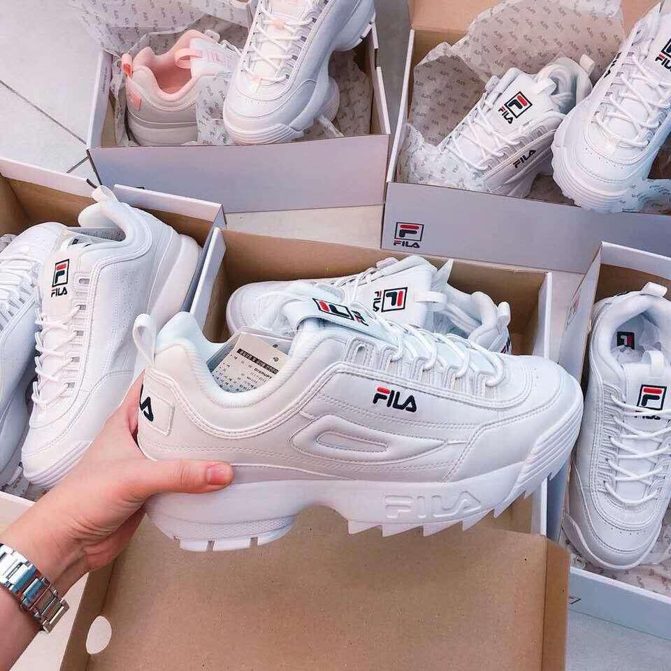 fri leverans ankommer bästa stället COD Fila Disruptor 2 white แท้ 💯% รองเท้า FILA รองเท้าผ้าใบ สีขาว ...