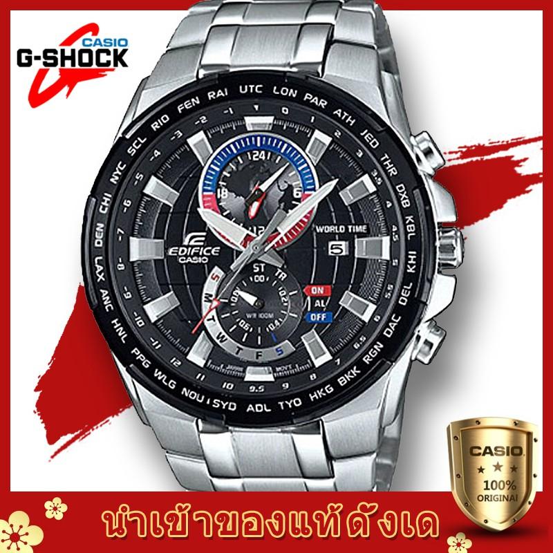 Casio Edificeรุ่น EFR-550D-1AVสินค้าขายดี นาฬิกาข้อมือผู้ชาย สายสแตนเลส (สินค้าใหม่ล่าสุด)