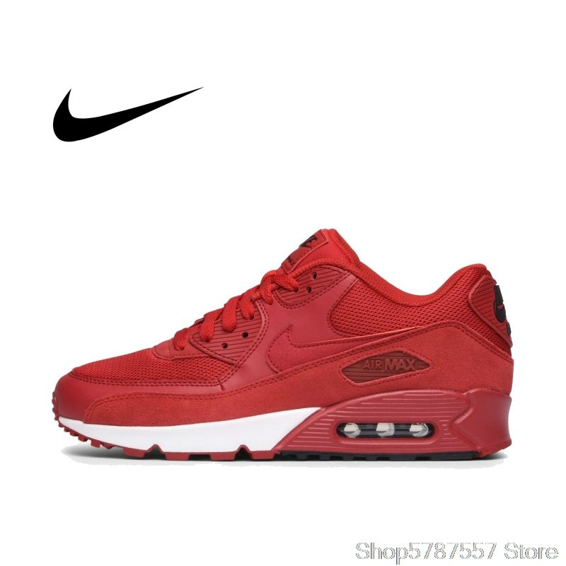 NIKE- NIKE AIR MAX 90 Men's Running Shoes Original Authentic Airmax 90 Essentials for Running, Outdoor Sport, Comfortabl