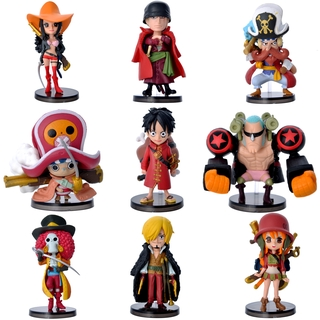 One Piece Anime Figure Doll 9 Models/Set