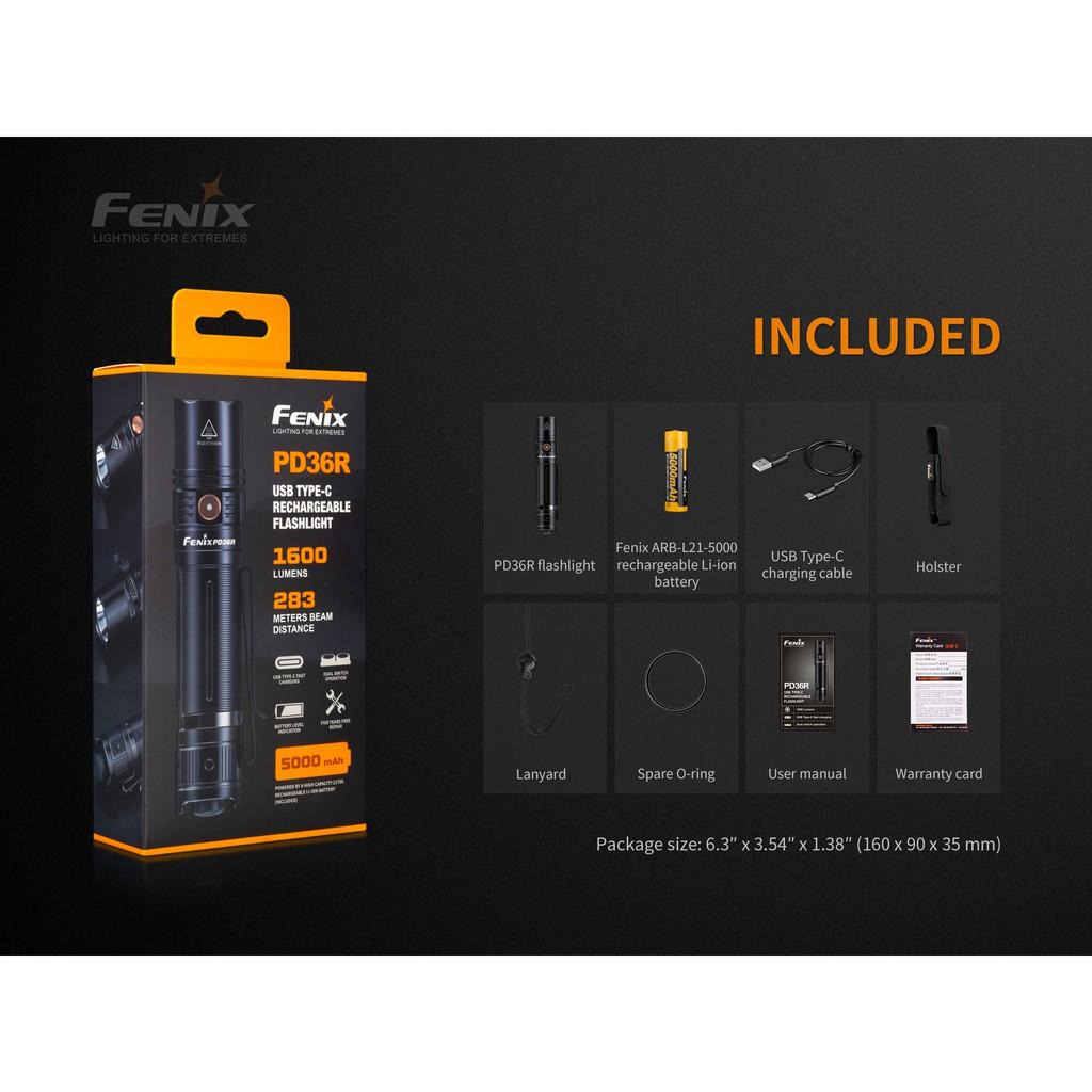 ไฟฉาย Fenix PD36R  (สินค้าตัวแทนในไทยมีประกัน 3 ปี)