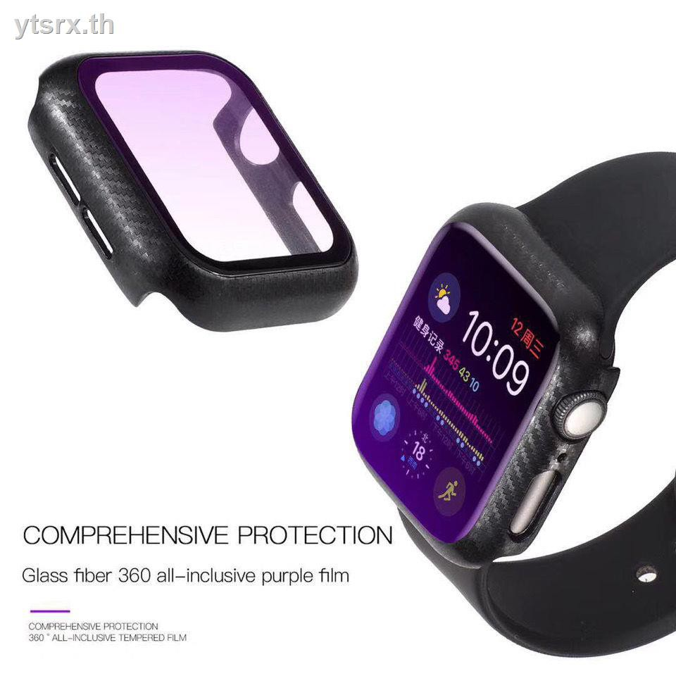 Case Apple Watchเคสนาฬิกา Apple Watch เคส Apple Watch CaseApple watch case iwatch5 frosted all-in-one tempered film protects AppleWatch234 against purple and blue light