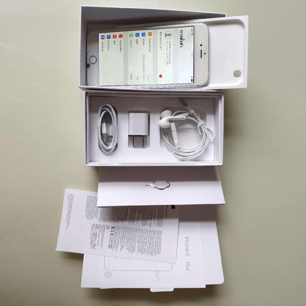 ถูก/แท้ iphone6  16gb  มือสอง อุปกรณ์ครบยกกล่อง พร้อมใช้งานApple(แอปเปิ้ล) iPhone 7plus 32/128G เครื่องแท้ ไอโฟน7p