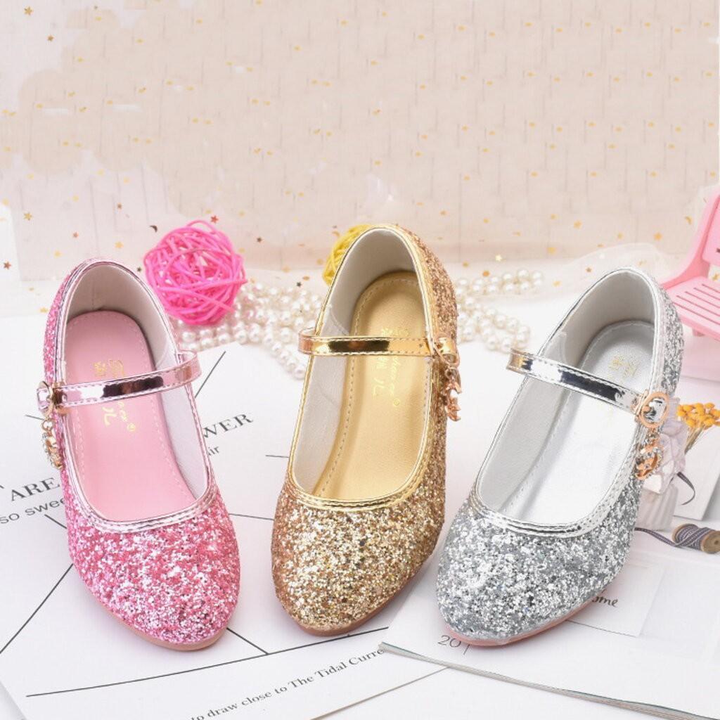 รองเท้าส้นสูง⌵รองเท้าส้นสูงผู้หญิง⌵ Shoe15001 รองเท้าคัชชูเด็กเล็ก รองเท้าคัชชูเด็กโต (ความยาววัดจากพื้นภายใน ให้ใช้ความ