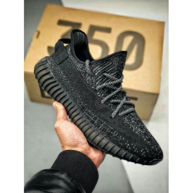 1:1 Adidas Yeezy Boost 350 V2 Static Reflective Black (Venom)
