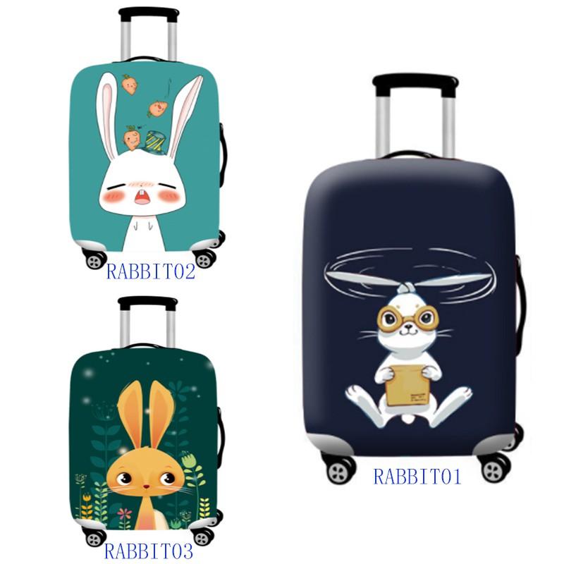 กระเป๋าเดินทางผ้ายืดลายกระต่าย