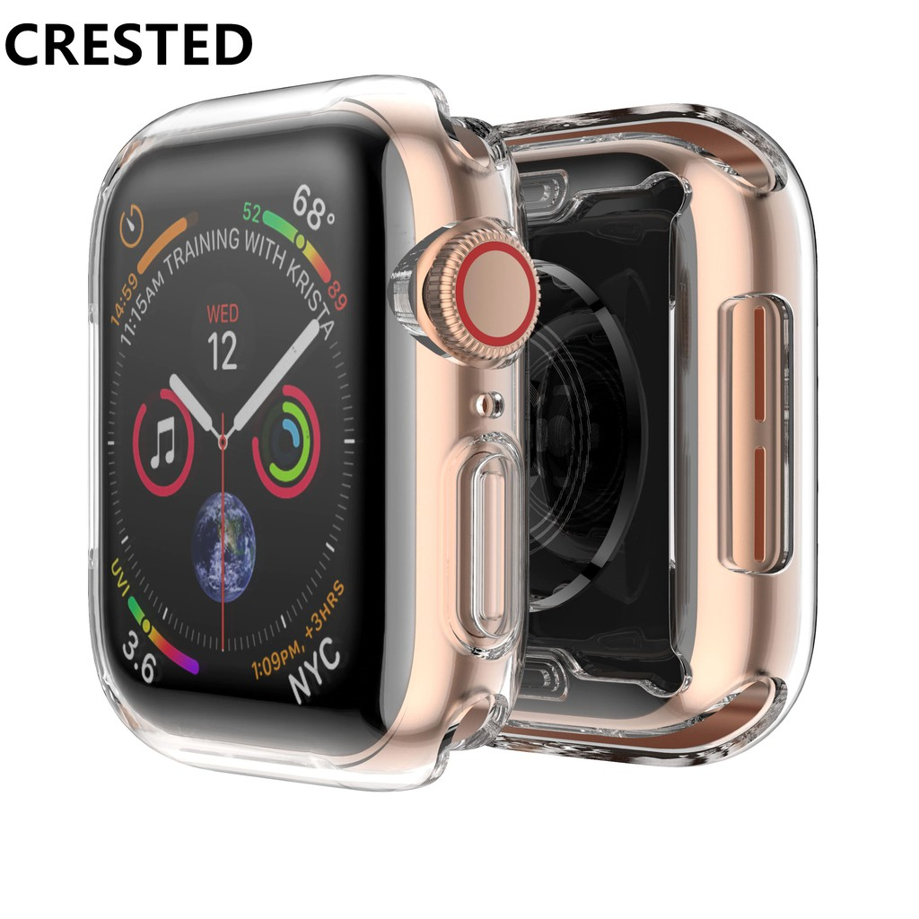Cover for Apple watch 4 case 44mm 40mm iwatch case 42mm 38mm Full TPU Clear Scre