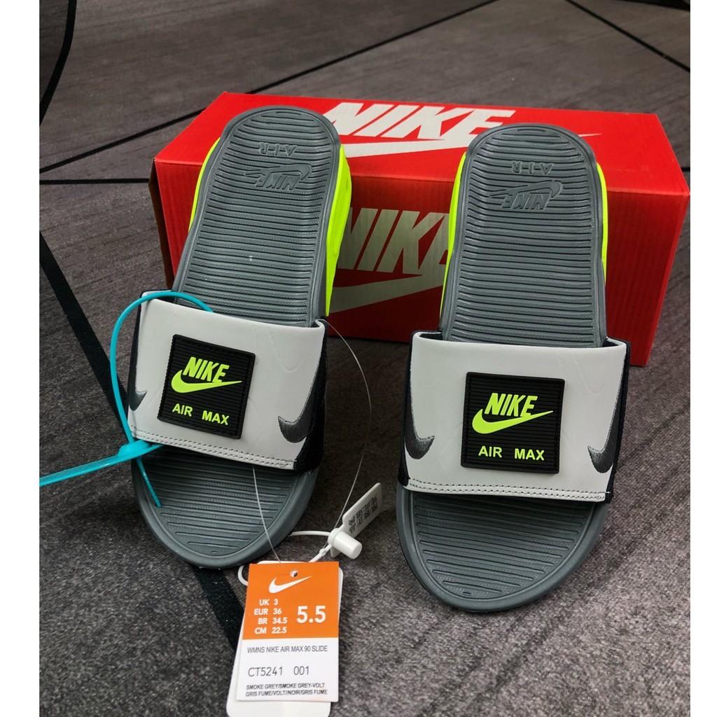 Nike AIR MAX 90 SLIDE LC AM90 ผู้ชายและรองเท้าผู้หญิง รองเท้าแตะลำลอง รองเท้าเบาะลม