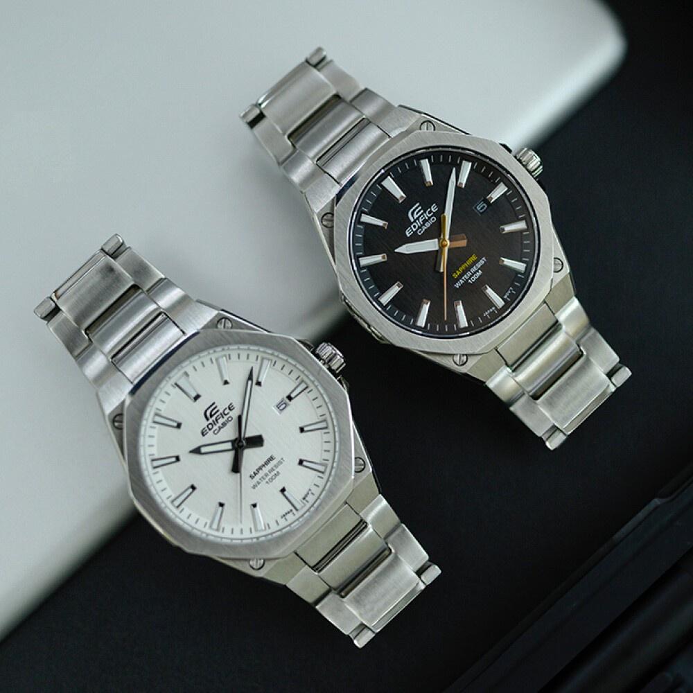 ขายดีเป็นเทน้ำเทท่าแฟชั่นจับคู่ง่าย นาฬิกาข้อมือ ผู้ชาย Casio Edifice  สายสแตนเลส EFR-108D Series  รุ่น EFR-S108, EFR-S1