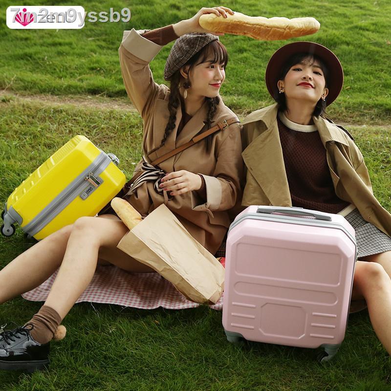 ทนทาน♙﹍⊙กระเป๋าเดินทางขึ้นเครื่องได้ กระเป๋าเดินทางล้อลาก 14 นิ้ว ตัวเล็ก ตัวเมีย น้ำหนักเบา ตัวเล็ก 16 กล่องเล็ก 18