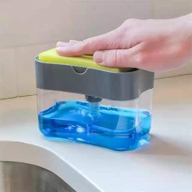 ใส่น้ำยาล้างจานพร้อมที่วางสก๊อตไบร์ท