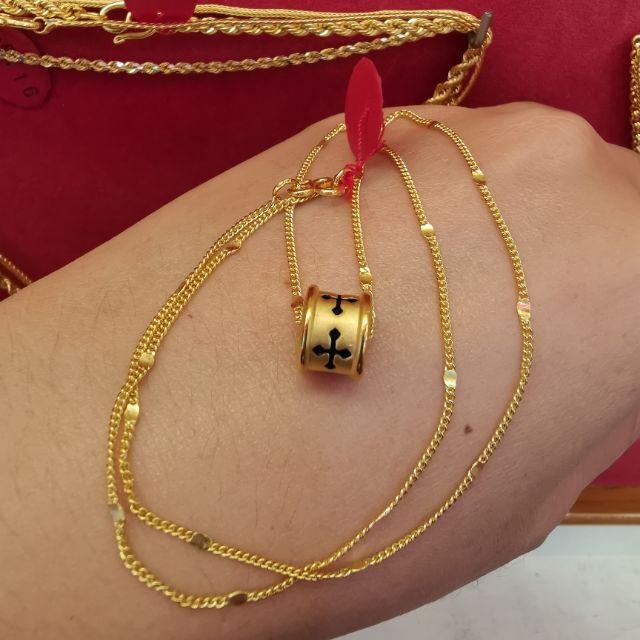 สร้อยคอทองแท้ 96.5%  น้ำหนัก 1สลึง ยาว 22cm ราคา 8,250บาท