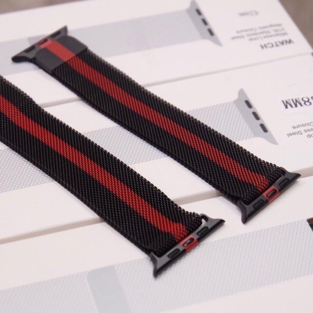 นาฬิกาดิจิตอล。 สายเปลี่ยนนาฬิกาข้อมือ สาย สำหรับ AppleWatch Band Milanese Loop Series 1 2 3 4 5 6 SE 44 มม 40 มม 38 มม 4