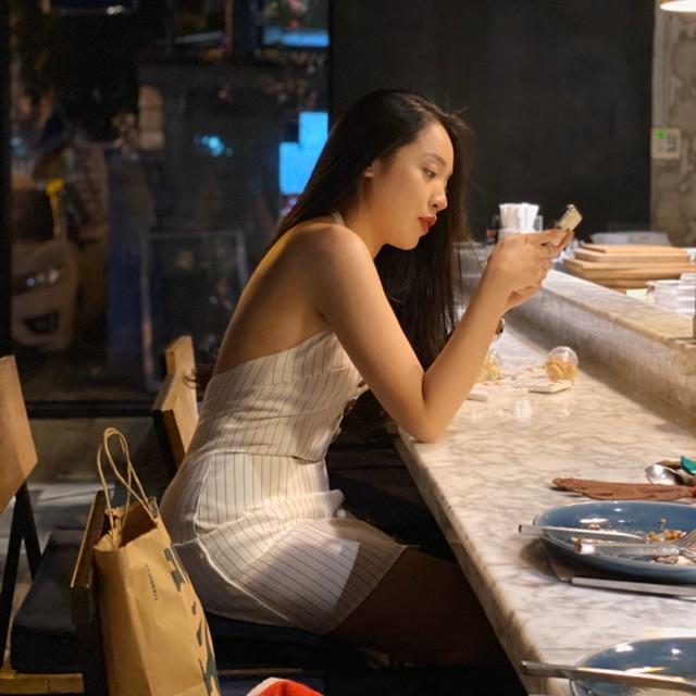 KIMBER DRESS โชว์หลังสีขาว (Size L)