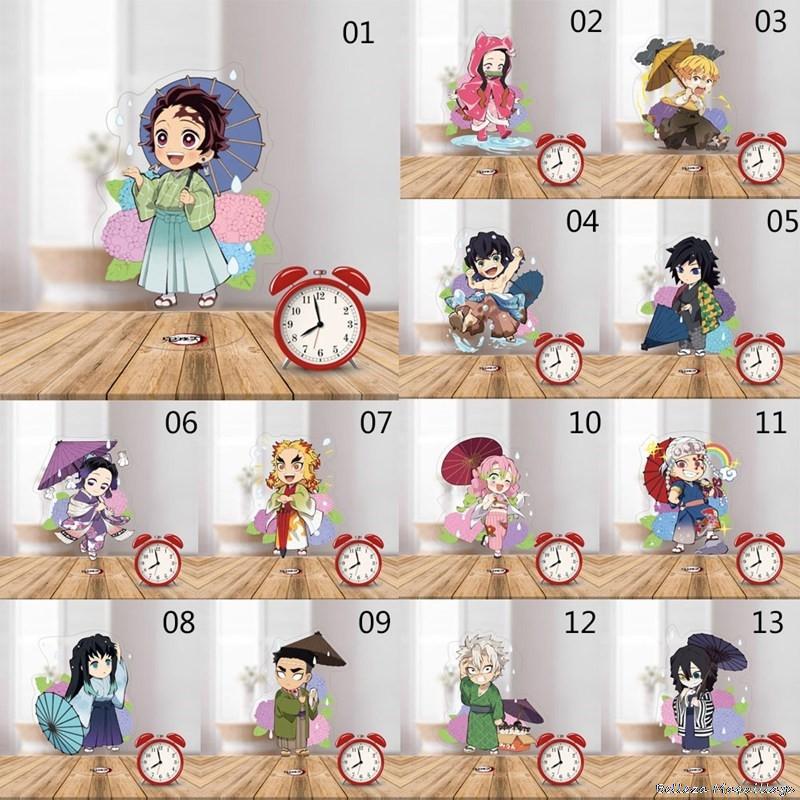 Demon Slayer: Kimetsu no Yaiba Acrylic Stand Model Toys Nezuko Zenitsu Anime Figure Decoration Action Figure DIY Collect