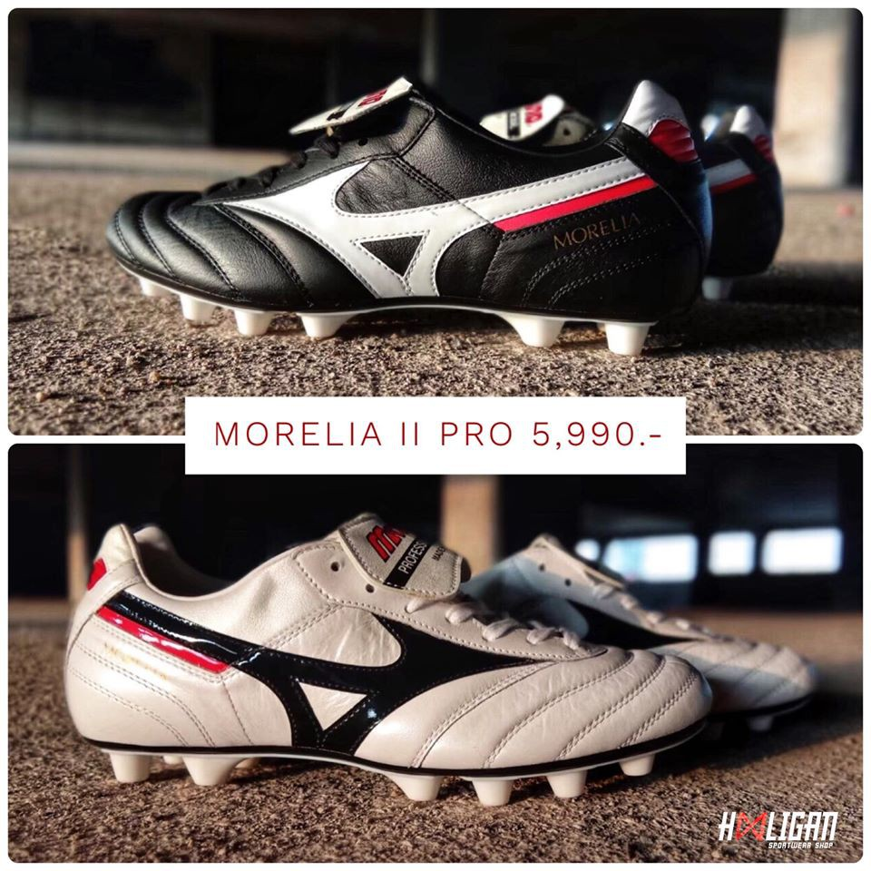Black or White ⚫️⚪️Mizuno Morelia II Pro FG สีคลาสสิค สวยลงตัวทั้งดและขาวรองเท้าหนังแท้นุ่มๆ จากค่าย Mizuno