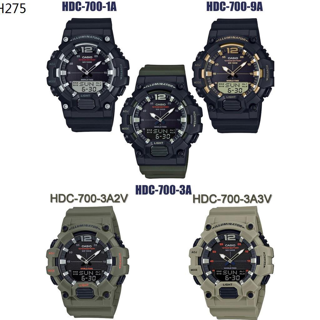 CASIOรุ่น HDC-700 Series HDC-700-1A,HDC-700-9A,HDC-700-3A,HDC-700-3A2,HDV-700-3A2 รับประกัน1ปี ของแท้100%