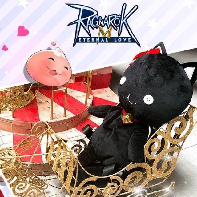 กระเป๋าเป้ ตุ๊กตา แมวดำ มอนเตอร์ เกมส์ Ragnarok Online Black Cat Lemegeton Backpack ความยาว 21 นิ้ว