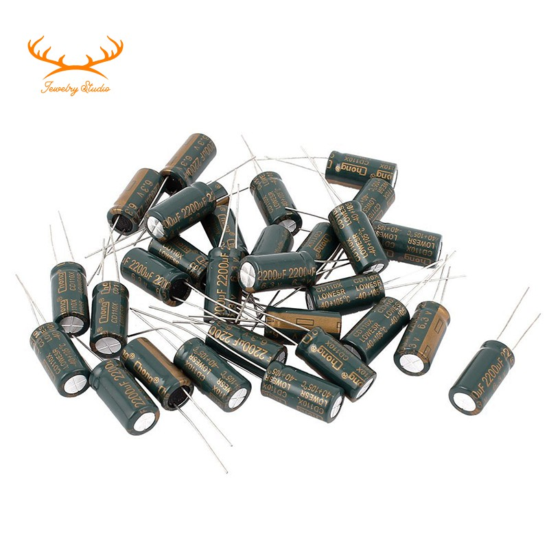 LOT OF 2 CHEMICAL CAPACITOR 2200µF 6.3V 2200MF 2200µF 105 °