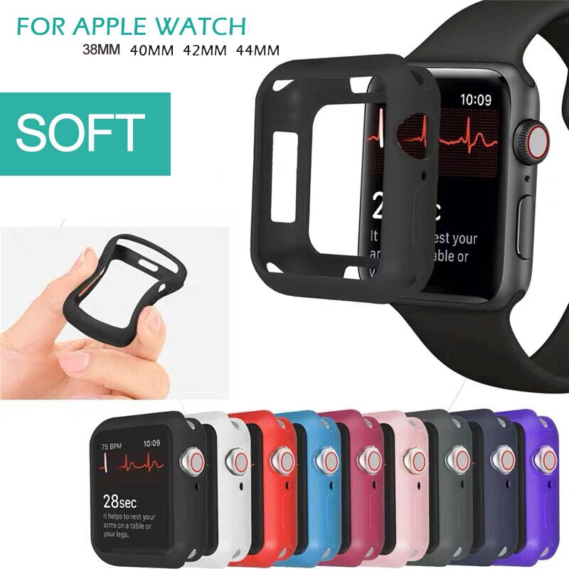 tpu case for apple watch series 5 4 3 2 1 band 38 mm 42mm 40mm 44mm iwatch