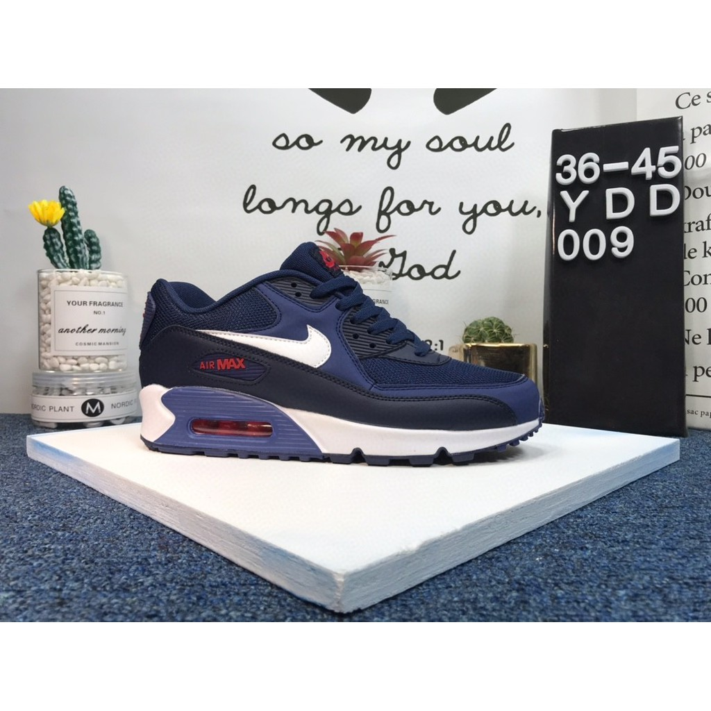 แท้ ข้อเสนอพิเศษNike AirMax90 ผู้ชายและรองเท้าผู้หญิง รองเท้าคู่รัก แฟชั่น รองเท้า เทรนด์ แฟชั่นราคาพิเศษ แสง จริงๆ บรรยากาศสบาย·