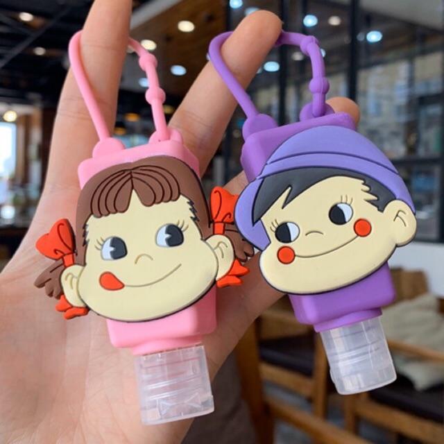 Milky Peko & Poko Hand Gel Sanitizer เจลล้างมือแบบพกพา มาพร้อมปลอกซิลิโคนห้อยกระเป๋า👜 ลายน่ารักมากๆ‼️m
