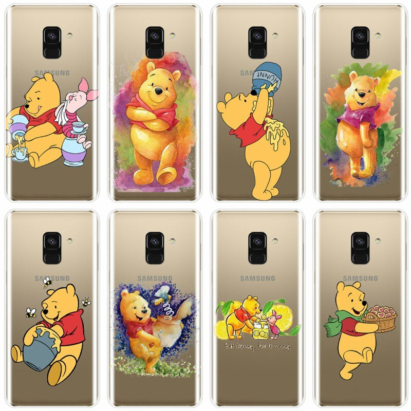 Newest Winnie Pooh Cartoon Phone Case For Samsung Galaxy A9 A9PRO A7 A8 A8Plus 2018 A7 2017 A3 A5 A6 2016 A3 A5 A7 2015