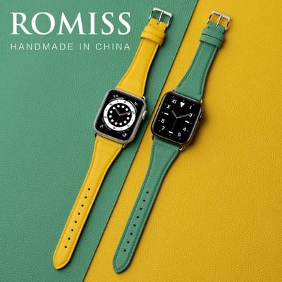 ❃Νสายรัดสายหนังวัวอิตาลีสำหรับ iWatch applewatch applewatch applewatch Apple Watch s/ 6/5/4/3รุ่นพรีเมี่ยมชายและหญิงบุคล