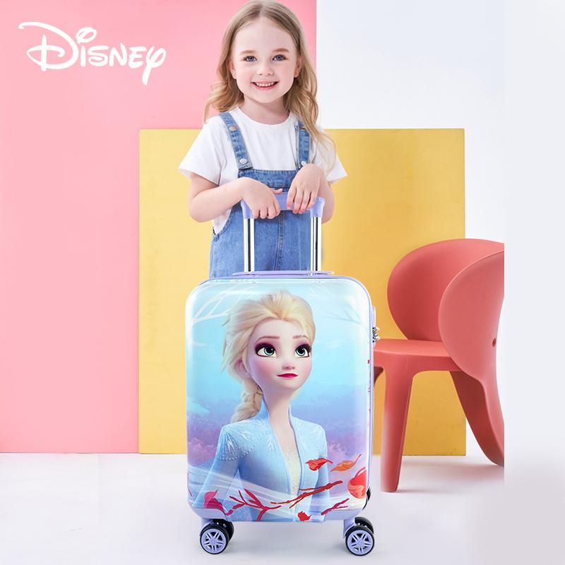 り❄ กระเป๋าเดินทางล้อลาก กระเป๋าเดินทางล้อลากใบเล็กดิสนีย์เด็กรถเข็นกระเป๋าล้อสากล16นิ้วเด็กสาวกระเป๋าเดินทางสามารถนั่ง18